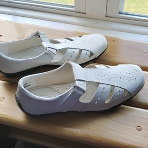 Dr Scholl's leather uppers
